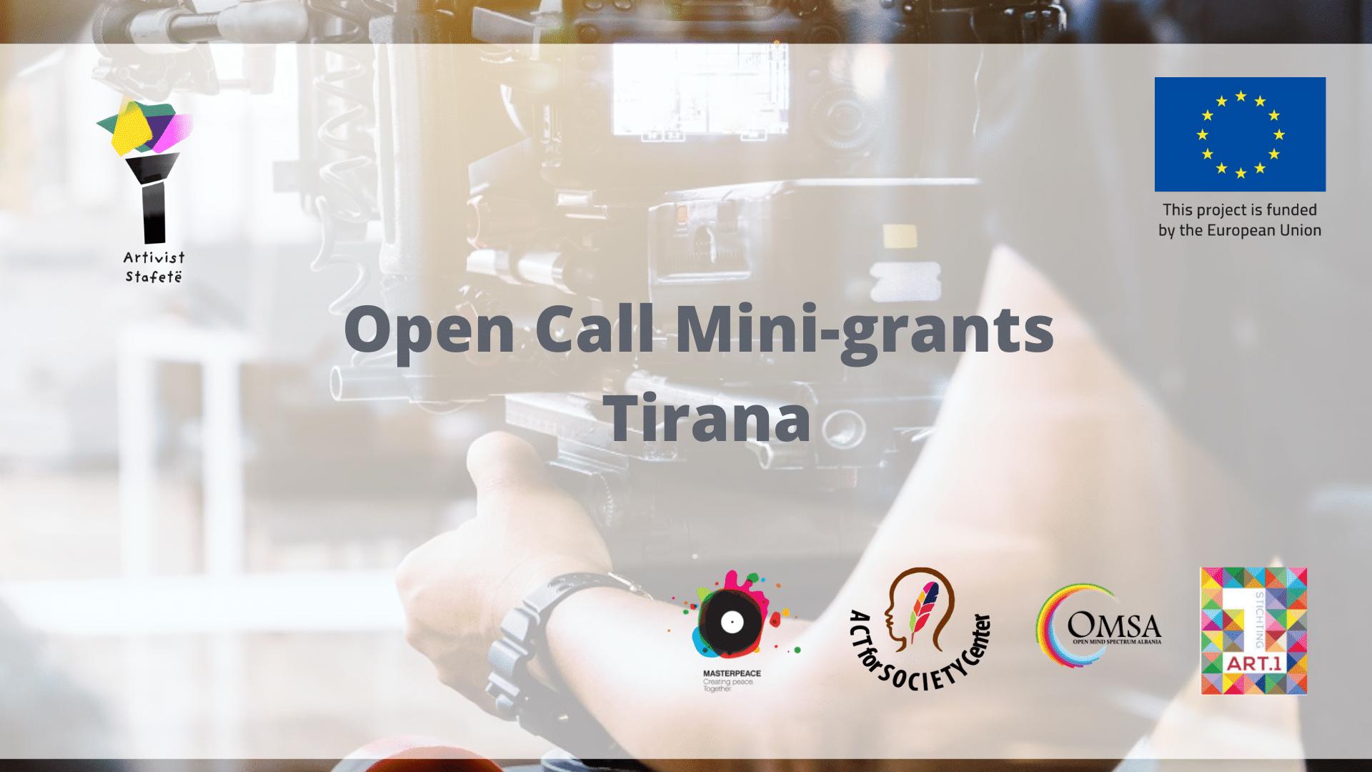 OPEN CALL FOR MINI-GRANTS/ Tirana