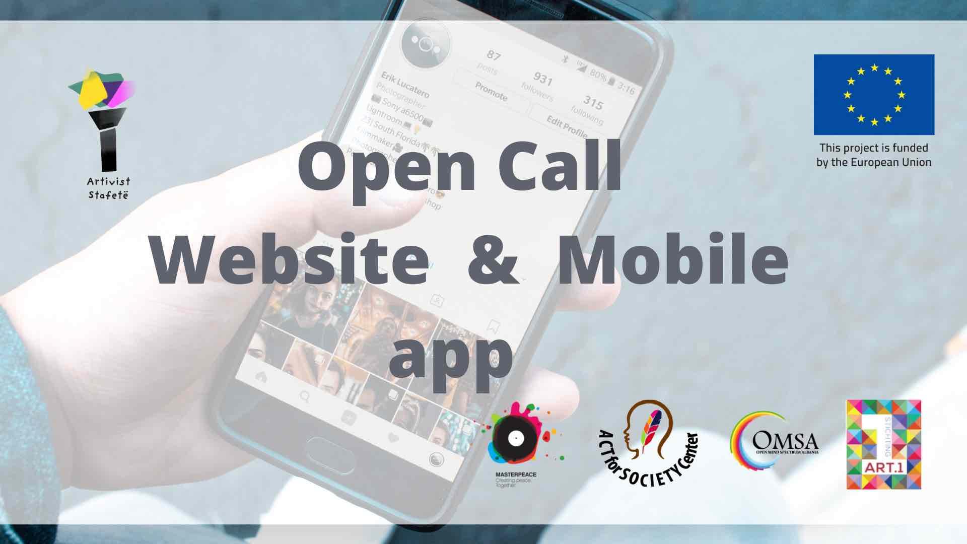 Open Call: Website & Mobile app